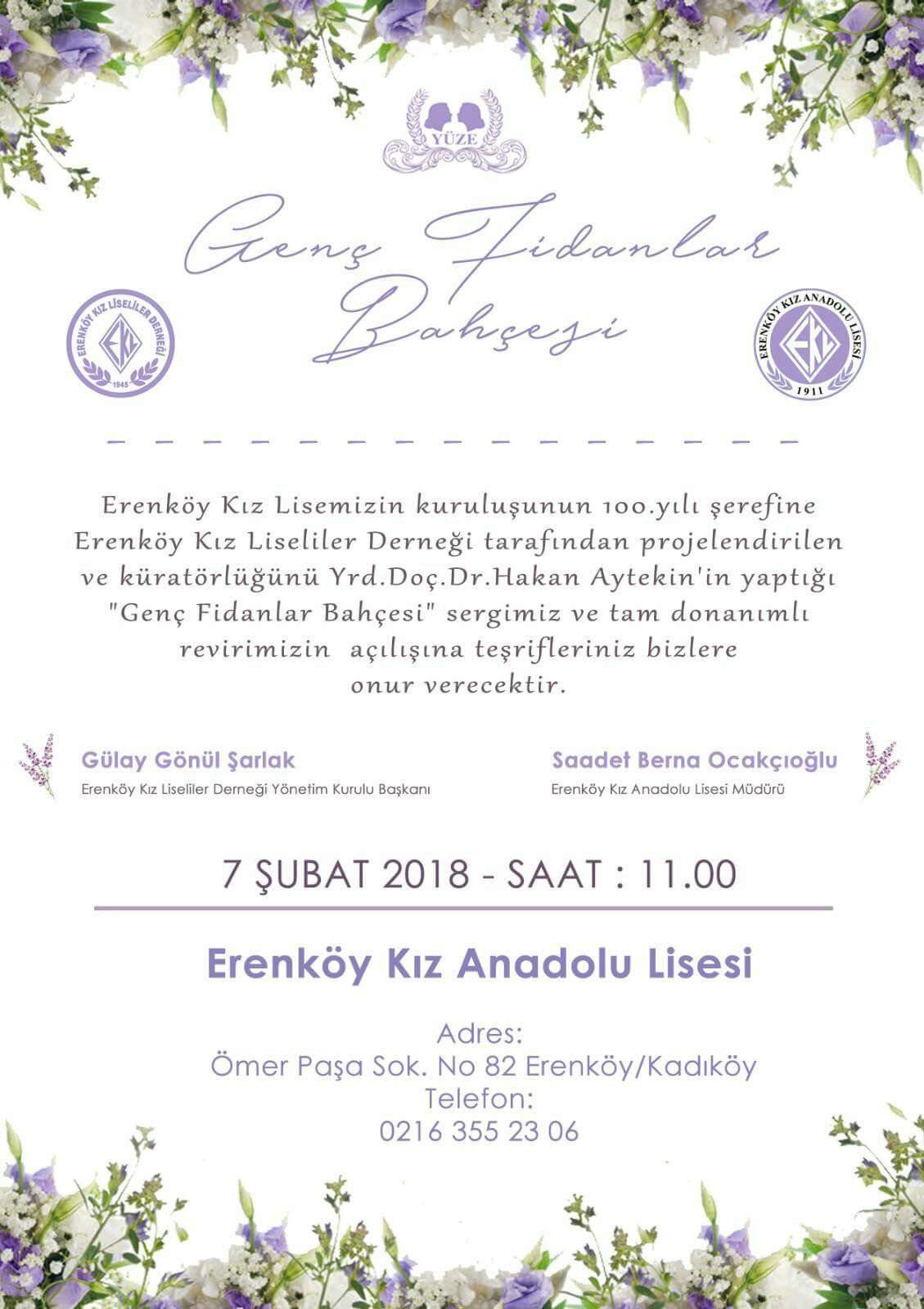 Erenköy Kız Liseliler Derneği'nden Açılışa Davet!